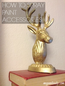 Spray Painted Stag Head