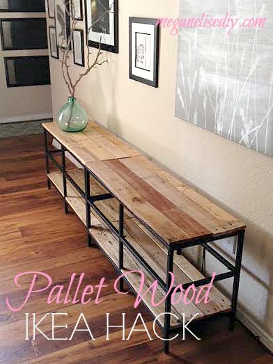 Relooker un meuble ikea avec des palettes 20 exemples for Pallet ikea