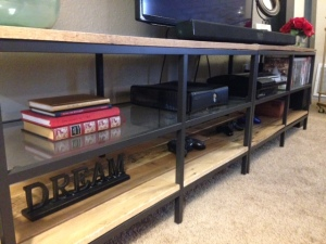Pallet Wood Entertainment Center
