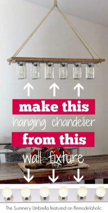 Rusic Mason Jar Chandelier