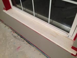 Before window sills